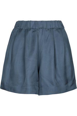 ASCENO Zurich silk twill shorts