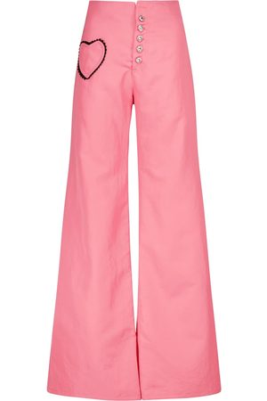 RODARTE High-rise wide-leg twill pants