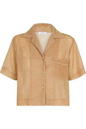 Oséree Exclusive to Mytheresa – Lumière cropped shirt