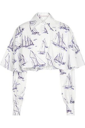 EMILIA WICKSTEAD Britta printed cotton poplin shirt