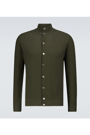 Thom Sweeney Men Cardigans - Cotton piqué button-down sweater