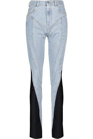 MUGLER Spiral high-rise slim jeans
