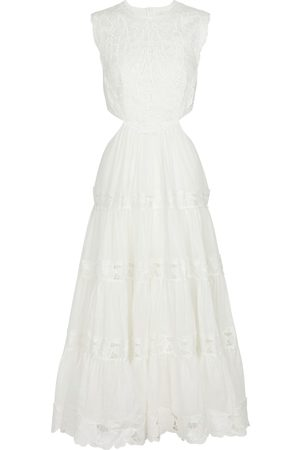 ZIMMERMANN Cassia embroidered linen and ramie dress