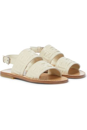 Fendi FF-embossed leather sandals