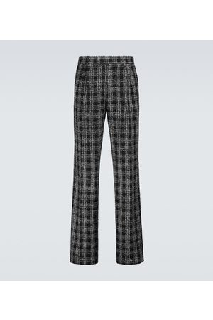 AMIRI Bouclé checked relaxed-fit pants