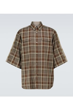 UNDERCOVER Checked short-sleeved shirt