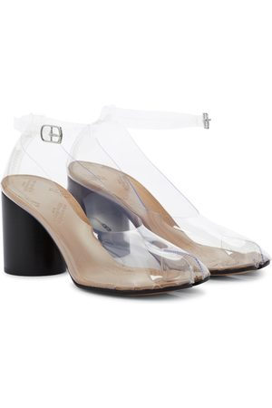Maison Margiela Tabi PVC and leather pumps