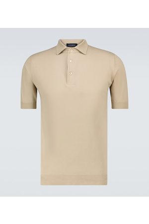 Thom Sweeney Ice cotton short-sleeved polo shirt