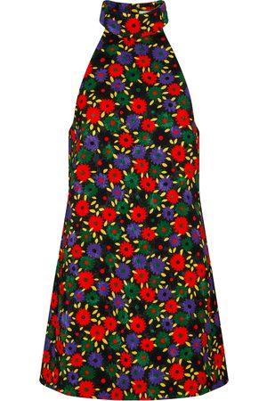 Saint Laurent Quilted floral minidress