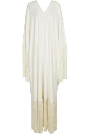 Oscar de la Renta Fringed silk gown