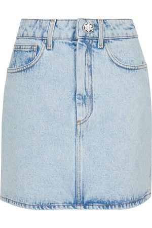 Alessandra Rich Denim miniskirt