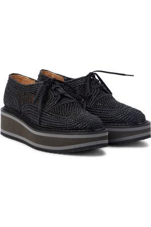 Robert Clergerie Biridie raffia flatform derby shoes