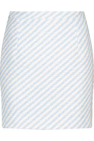 Alessandra Rich Striped tweed miniskirt
