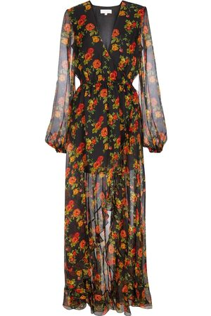 Caroline Constas Liv floral silk chiffon maxi dress