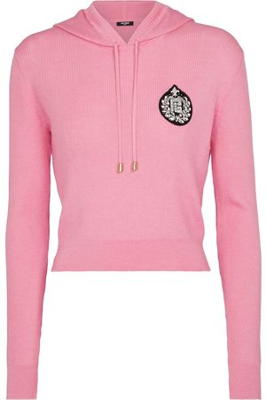 Balmain Embellished cashmere and silk hoodie