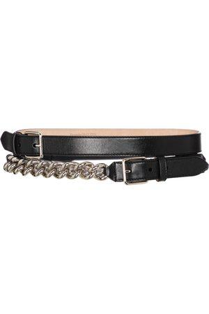 Alexander McQueen Embellished leather belt