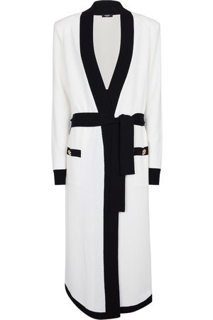 Balmain Belted wool-blend cardigan