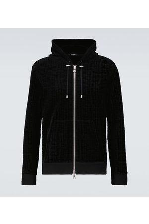 Balmain Monogrammed velvet sweatshirt