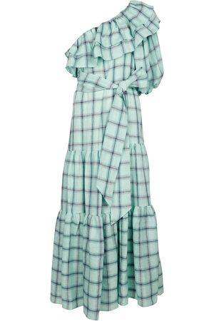 Lisa Marie Fernandez Arden checked linen maxi dress