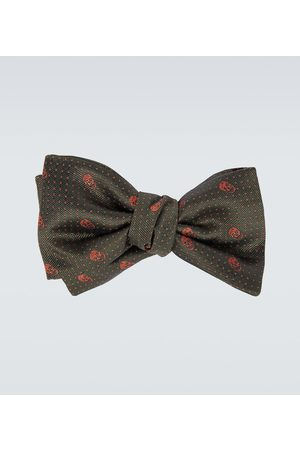 Alexander McQueen Skull and polka-dot bow tie