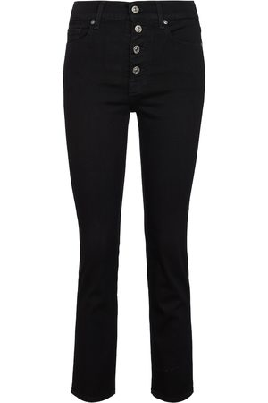 7 for all Mankind High-rise cropped skinny jeans