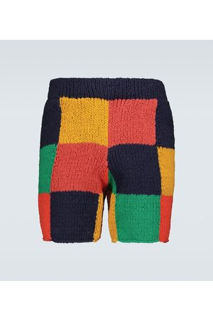 THE ELDER STATESMAN Hand-knitted Square shorts