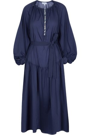 Deveaux New York Ruth cotton midi dress