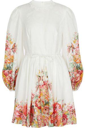 ZIMMERMANN Mae floral linen minidress
