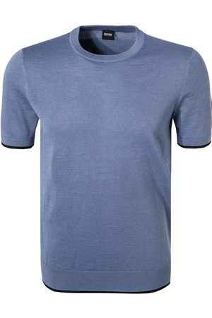 Hugo Boss PERSIMO Open Short Sleeves Sweater Tee in Ramie and Cotton Blend 50449960