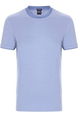 Hugo Boss TESSLER 158 Open Slim-Fit T-Shirt in Fine-Striped Interlock Cotton 50449909