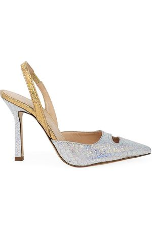 Madison Maison by Giampaolo Viozzi Gold Mid Heel Pump