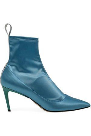 BALDAN Turquoise 1859 Satin Mid Heel Boot