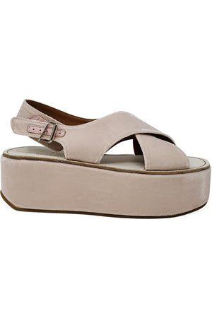 Madison Maison by Flamingos Women Wedge Sandals - Velvet Open toe Wedge Sandal