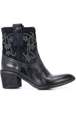 FAUZIAN JEUNESSE Navy Mid Ankle Embroidery Boot