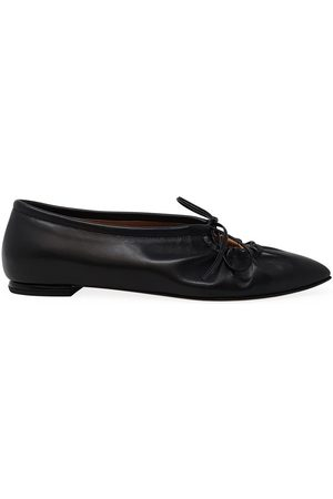 Madison Maison By Sergio Amaranti Leather Pointy Lace up Ballerina