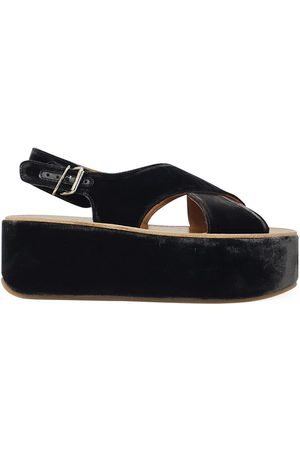 Madison Maison by Flamingos Velvet Open toe Wedge Sandal