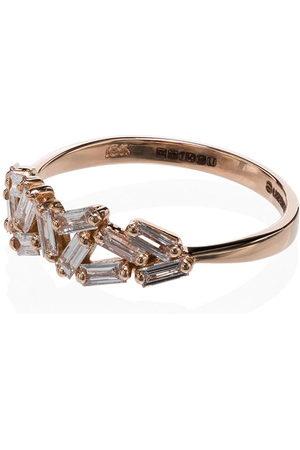 Suzanne Kalan Women Rings - Chevron diamond-embellished ring - ROSE