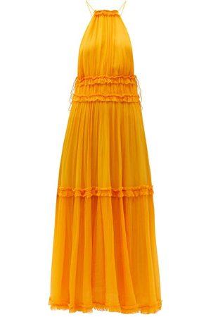 ZIMMERMANN Mae Halterneck Chiffon Midi Dress - Womens