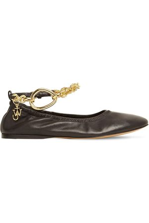 J.W.Anderson Women Ballerinas - 10mm Embellished Leather Ballerinas