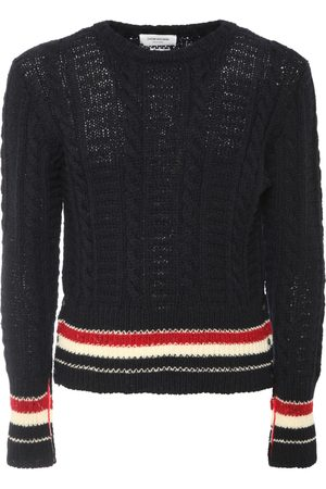 Thom Browne Filey Stitch Wool & Mohair Knit Sweater