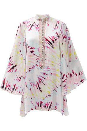 HALPERN Women Party Dresses - Tie Dye-print Satin Mini Dress - Womens