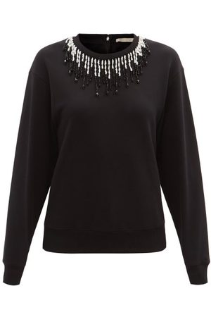 Christopher Kane Women Sweatshirts - Beaded Organic Cotton-jersey Sweatshirt - Womens