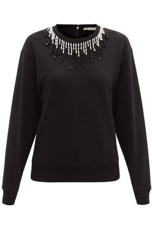 Christopher Kane Women Sweatshirts - Beaded Organic Cotton-jersey Sweatshirt - Womens