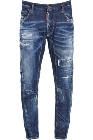 Dsquared2 17cm Tidy Biker Cotton Denim Jeans