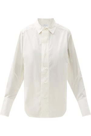 Frame Women Shirts - Oversized Gathered Cotton-poplin Shirt - Womens