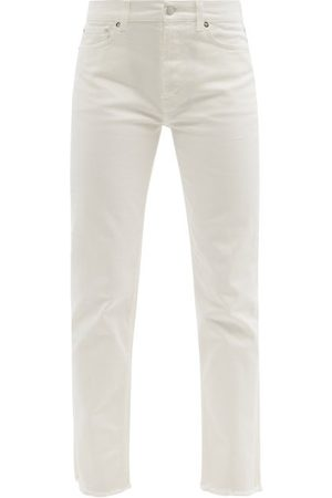 Christopher Kane Frayed-cuff Organic-cotton Jeans - Womens