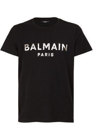 Balmain Logo Foil Organic Cotton Jersey T-shirt
