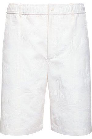 VALENTINO Men Shorts - Cotton Blend Piquet Shorts