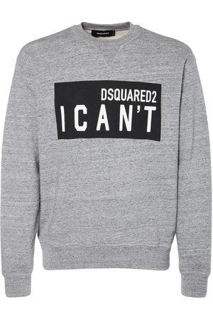 Dsquared2 Men Sweatshirts - I Can't Print Cotton Jersey Sweatshirt
