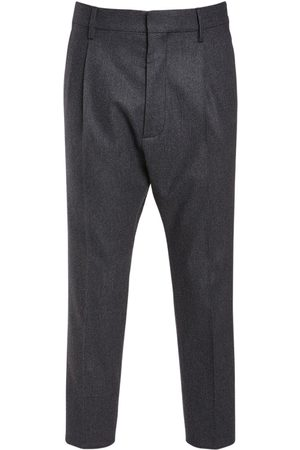 Dsquared2 Pleated Aviator Wool Blend Pants
